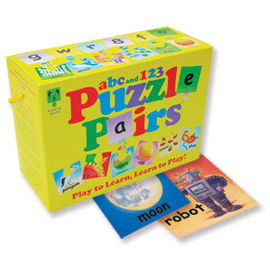 Ragged Bear's ABC and 123 Puzzle Pairs
