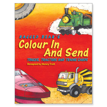 Ragged Bears Colour In Send Trucks, Tractors and Trains Cards-1