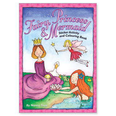 Fairy, Princess and Mermaid Sticker Activity & Colouring Book